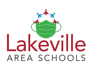 Lakeville Area Schools logo with mask