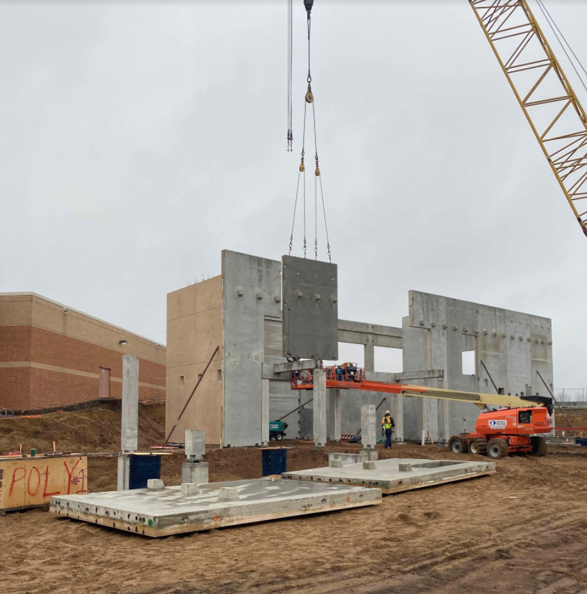 Construction at Century Middle School