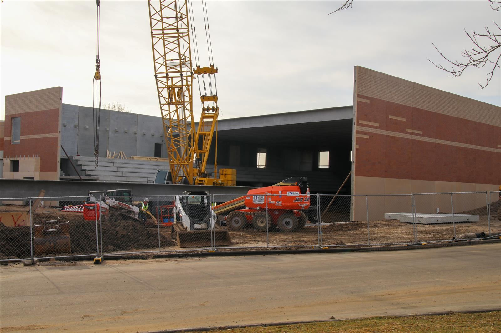 pool construction at Century Middle School